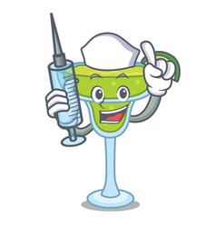 Nurse margarita character cartoon style vector