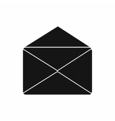 Open envelope icon simple style vector