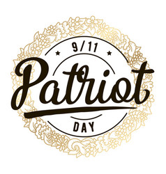patriot day typographic vector image