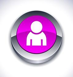 Person 3d button vector