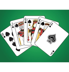 Royal Flush of Spades vector