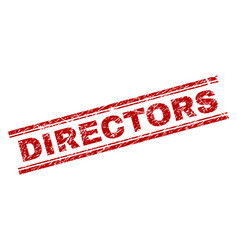 Scratched textured directors stamp seal vector