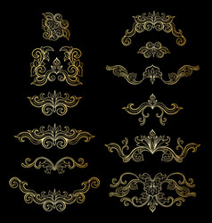 set isolated headpiece floral decoration vector image