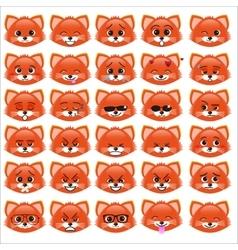 Set of funny kitten emoticons vector image