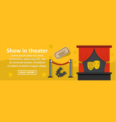 show in theater banner horizontal concept vector image