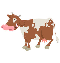 spotted cow farm animal vector image