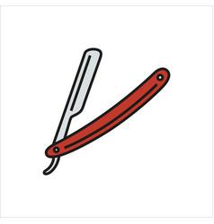 Straight razor on white vector