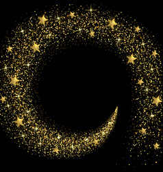 stream golden stars and particles vector image
