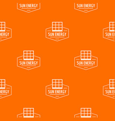 Sun energy pattern orange vector