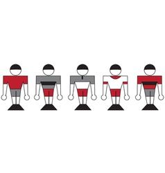 Symbolic sports team vector