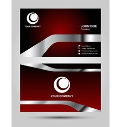 Templates for corporate style business card vector