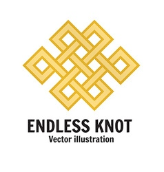The endless knot Graphic ornament composed of vector