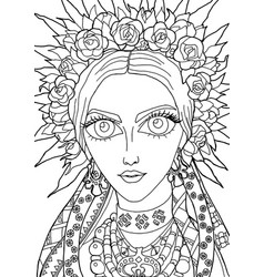 The girl with a decoration on her head 27 vector