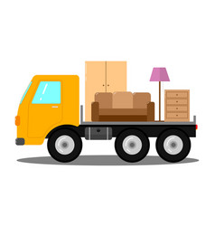 truck for transportation of things vector image