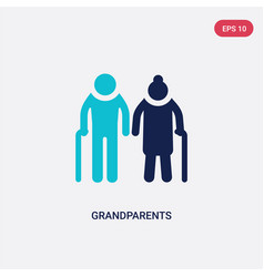 two color grandparents icon from family relations vector image