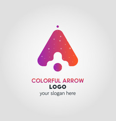 up arrow business logo template using double vector image