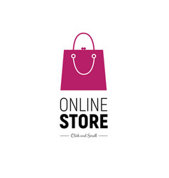 Web banner online store with fashionable handbag vector