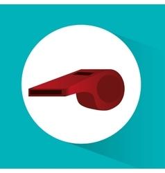 Whistle of soccer sport design vector