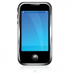 black cell phone vector image