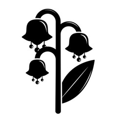 lily valley icon simple black style vector image
