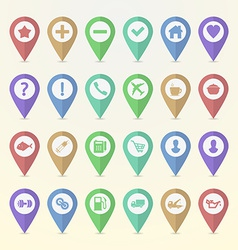 Set of map pointer icons vector image