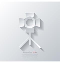spotlight icon light for photocamera vector image