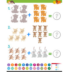 addition maths game for children vector image