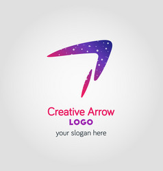 colorful arrow business logo template using vector image vector image
