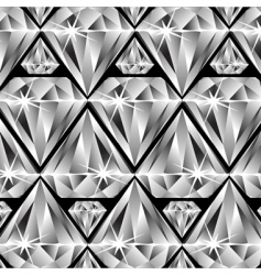 Diamonds pattern vector