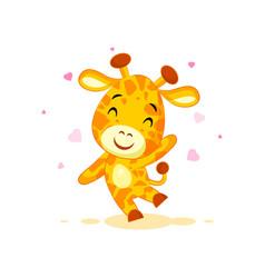 emoji hello hi waving in love hearts you are cute vector image