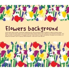 Flowers background empty place nature vector image