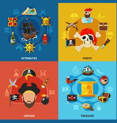 pirate cartoon design concept vector image