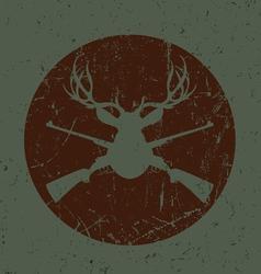 Vintage Deer Hunter Seal vector image vector image