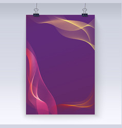 Wavy flowing poster template vector image