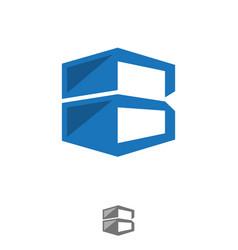 b letter storage vector image