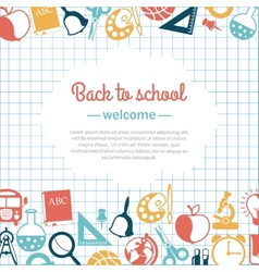 Back to school background for school vector