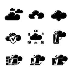Set of Cloud Computing icons vector image