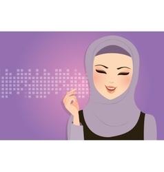 beautiful girl wearing scarf hijab veil smile vector image vector image