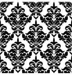 Decorative damask floral seamless pattern vector image