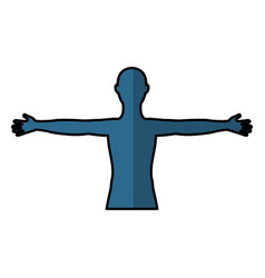 man anatomy silhouette isolated icon vector image vector image