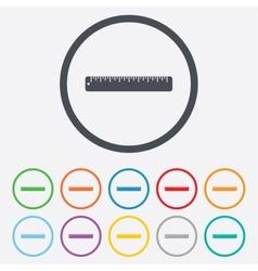 Ruler sign icon School tool symbol vector image vector image