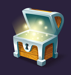 shining treasure chest vector image