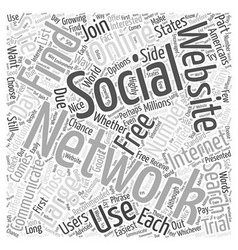 Social networking websites how to find them word vector