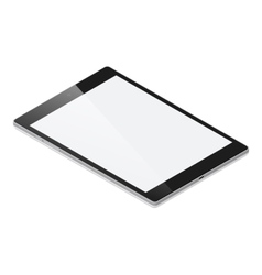Tablet pc detailed isometric icon vector image vector image
