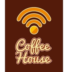 wifi service design vector image