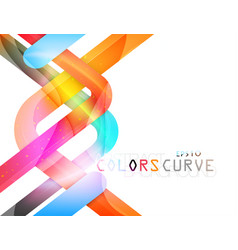 Abstract glossy curve colors vector