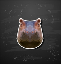 abstract triangle polygonal hippopotamus vector image