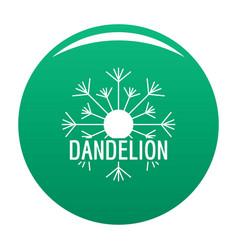 Aerial dandelion logo icon green vector