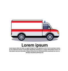 ambulance emergency car icon medical vehicle vector image
