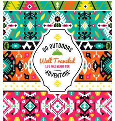 american indian ornate pattern design vector image